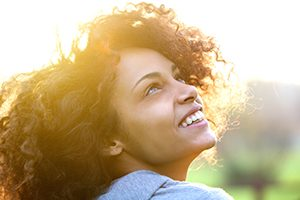 Woman Smiling Bright